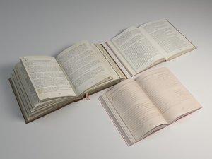 open books 3D