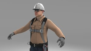 safety male industrial 3D model