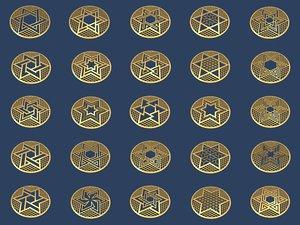 3D model medallions vol 2
