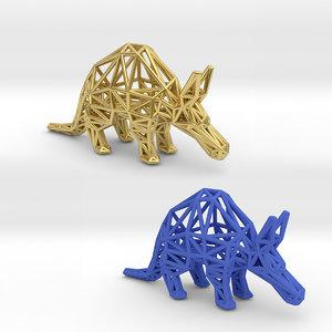 aardvark animal 3D model