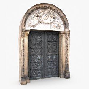 3D model historic entrance