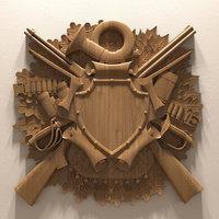 decorative arms hunter emblem model