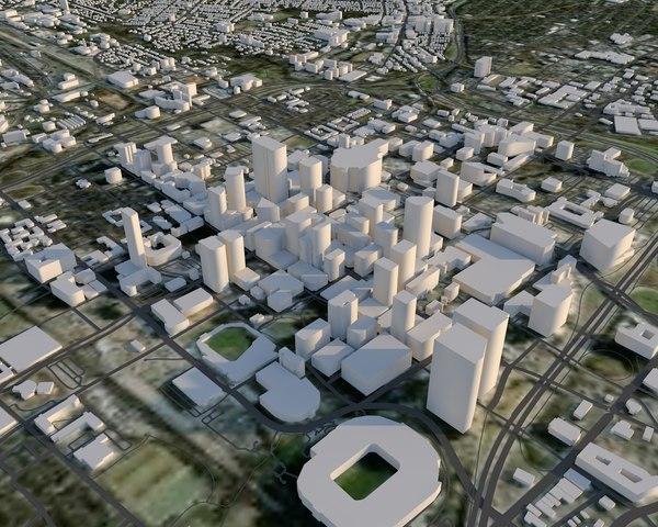 charlotte city north 3D model