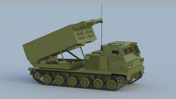 m270 mlrs rocket 3D model