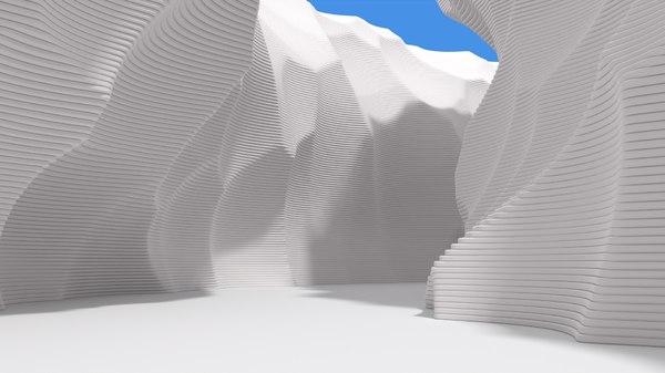 abstract layered environment 3D