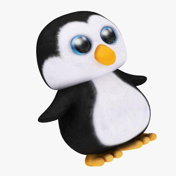 plush penguin 3D