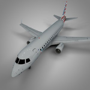american eagle embraer175 l519 3D model