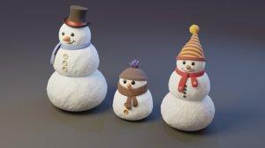 - snowman 3D