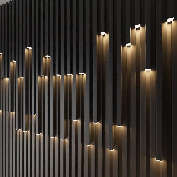 3D wall decorate light box model