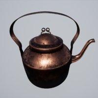 3D medieval kettle