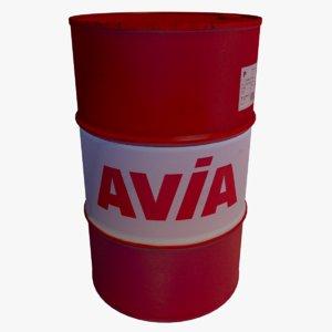 barrel avia oil 3D