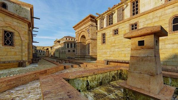 3D model old roman citadel