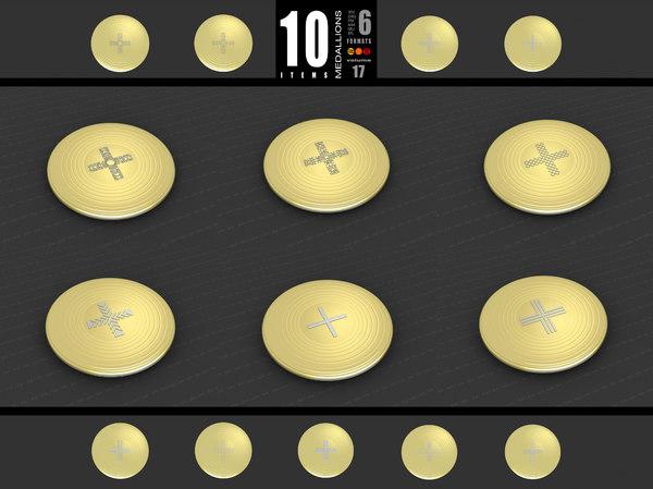 medallions vol 17 cross 3D model