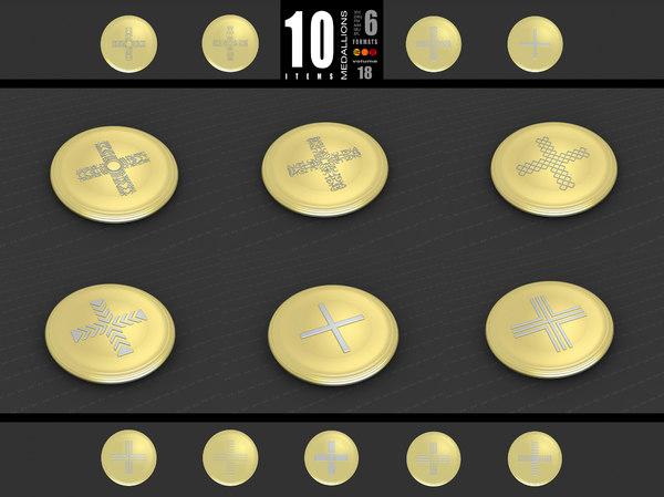 3D medallions vol 18 cross model