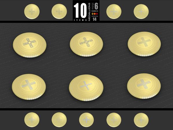 medallions vol 14 cross 3D model