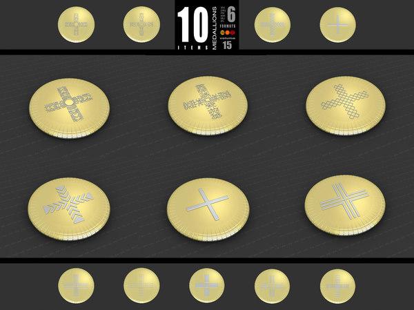 3D medallions vol 15 cross