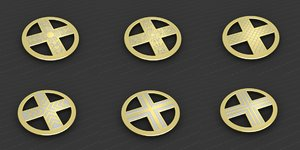 3D model medallions vol 12 cross