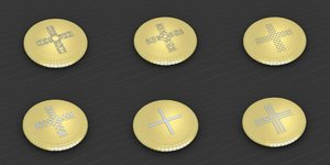 3D medallions vol 15 cross