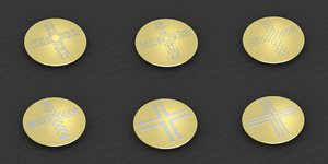 medallions vol 11 cross 3D