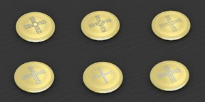 3D medallions vol 18 cross model