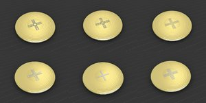 medallions vol 17 cross 3D model