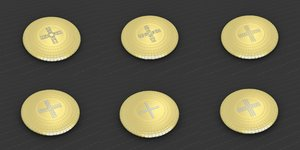 medallions vol 14 cross 3D model