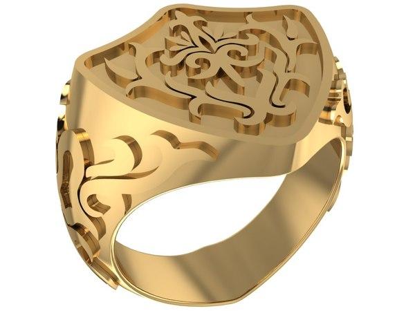 shield shaped ring 3D model