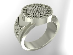 3D ring armenian ornaments model