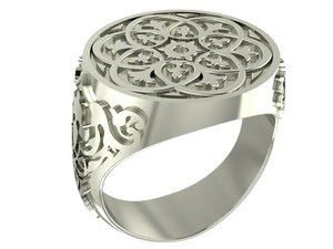 style male ring 3D model