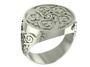 3D model signet ring