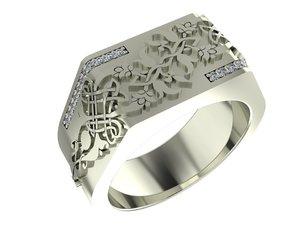 3D traditional ring armenian