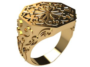 3D old style ring