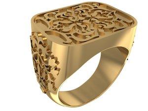 3D old square ring model