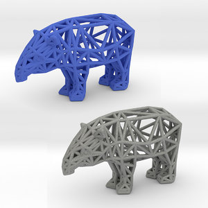 3D baird s tapir