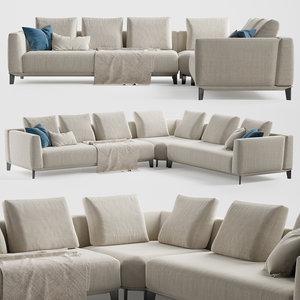 3D albertasalotti dylan sofa alberta model