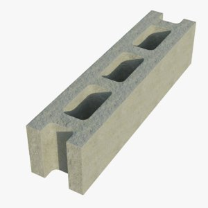 3D 16x4x4 cinder block stretcher