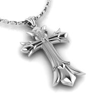 3D medieval cross