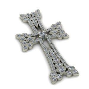 cross armenian gem 3D