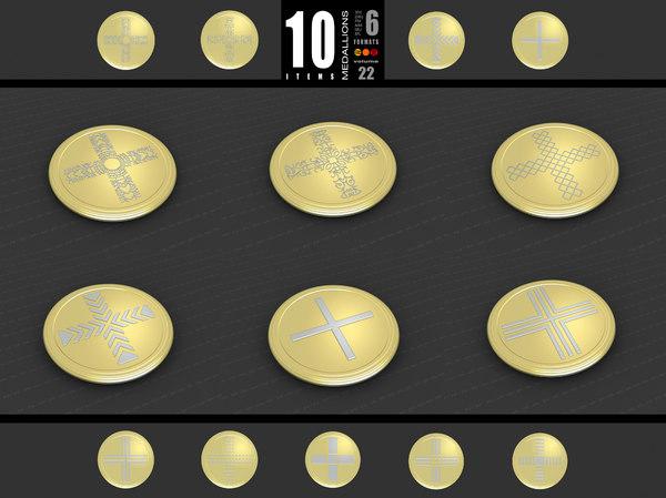 3D medallions vol 22 model