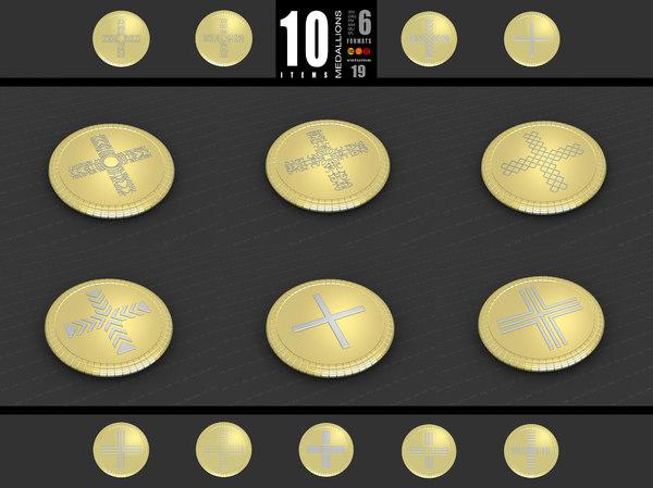 3D medallions vol 19 cross