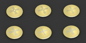 medallions vol 20 cross 3D model