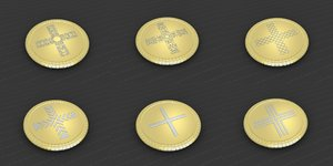 3D medallions vol 19 cross