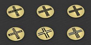 3D medallions vol 30 model