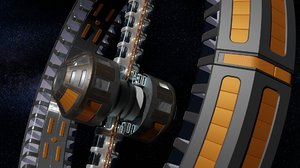 3D space station artificial gravity model
