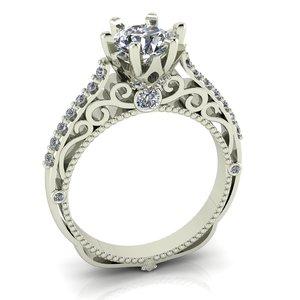 beautiful female ring 3D model