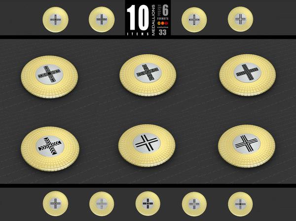 3D medallions vol 33 cross model