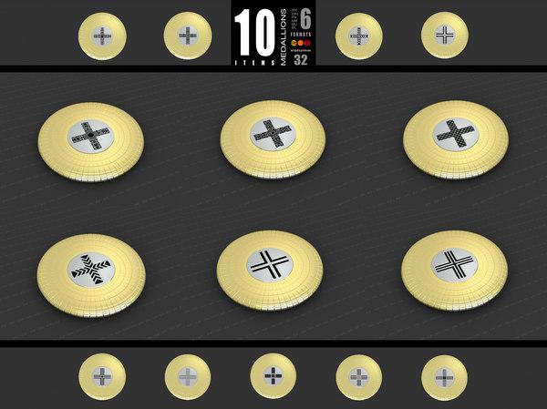 3D medallions vol 32 cross