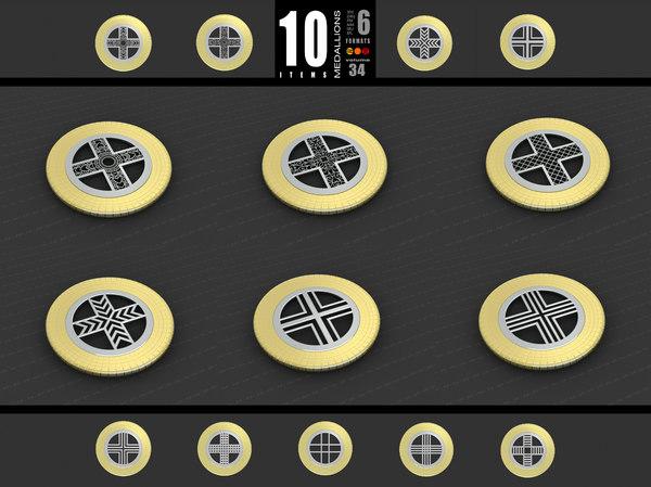 medallions vol 34 3D model