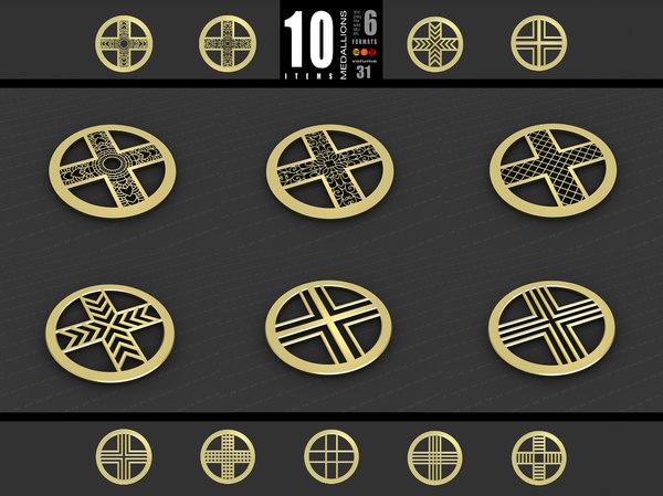 medallions vol 31 cross 3D model