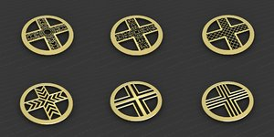 medallions vol 31 cross 3D model